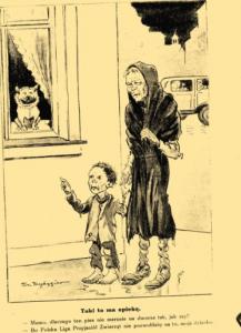 Mucha : szkice satyryczno-humorystyczne : zebrane przez F. Kostrzewskiego i H. Pillatego., R.63, nr 47 (20 listopada 1931)