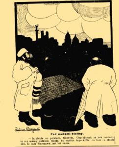 """Fot. """"Mucha: szkice satyryczno-humorystyczne"""", zebrane przez F. Kostrzewskiego i H. Pillatego, R.54, nr 1 (6 stycznia 1922 r.)"""