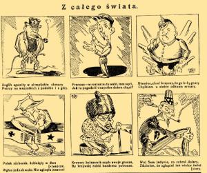"""Fot. """"Mucha: szkice satyryczno-humorystyczne"""", zebrane przez F. Kostrzewskiego i H. Pillatego, R.57, nr 15 (10 kwietnia, 1925 r.)"""